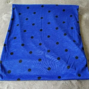 Blue and Polka Dot Infinity Scarf